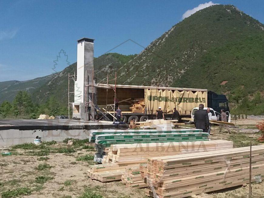 Casa in elbasan albania eco alsion for Planimetria casa tradizionale giapponese